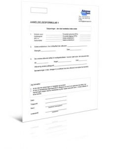 Anmeldelsesformular